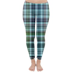 Plaid Ocean Winter Leggings