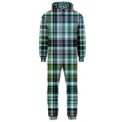 Plaid Ocean Hooded Jumpsuit (Men)
