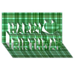 Plaid Forest Happy Birthday 3d Greeting Card (8x4)
