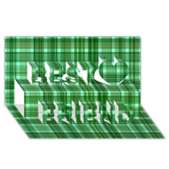 Plaid Forest Best Friends 3d Greeting Card (8x4)