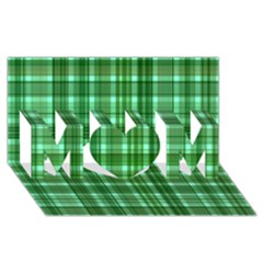 Plaid Forest MOM 3D Greeting Card (8x4)