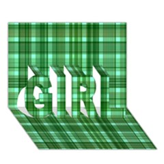 Plaid Forest Girl 3d Greeting Card (7x5)