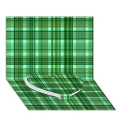 Plaid Forest Heart Bottom 3d Greeting Card (7x5)