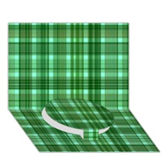 Plaid Forest Circle Bottom 3d Greeting Card (7x5)