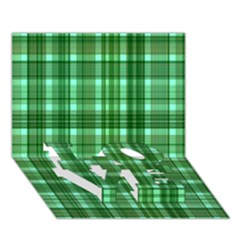 Plaid Forest LOVE Bottom 3D Greeting Card (7x5)