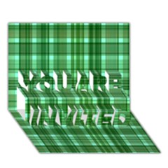 Plaid Forest YOU ARE INVITED 3D Greeting Card (7x5)