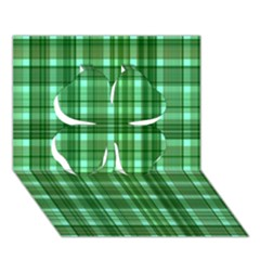 Plaid Forest Clover 3d Greeting Card (7x5)