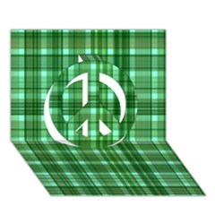 Plaid Forest Peace Sign 3d Greeting Card (7x5)