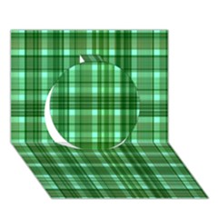Plaid Forest Circle 3d Greeting Card (7x5)