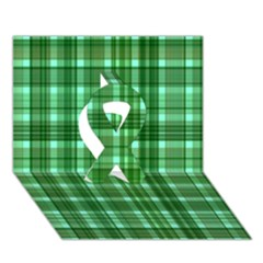 Plaid Forest Ribbon 3d Greeting Card (7x5)