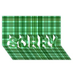 Plaid Forest SORRY 3D Greeting Card (8x4)