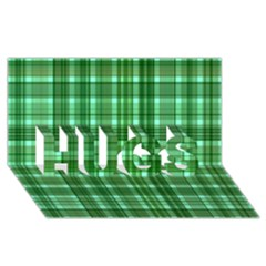 Plaid Forest HUGS 3D Greeting Card (8x4)