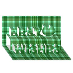 Plaid Forest Best Wish 3d Greeting Card (8x4)