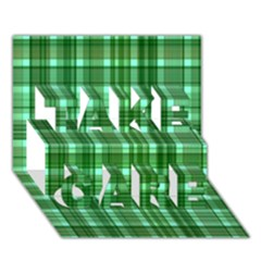 Plaid Forest Take Care 3d Greeting Card (7x5)