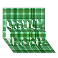Plaid Forest You Rock 3D Greeting Card (7x5)