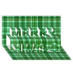 Plaid Forest Merry Xmas 3d Greeting Card (8x4)