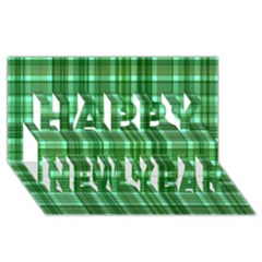 Plaid Forest Happy New Year 3D Greeting Card (8x4)