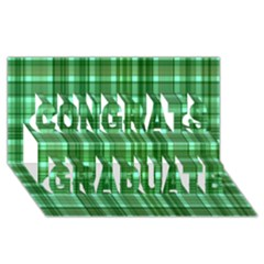 Plaid Forest Congrats Graduate 3d Greeting Card (8x4)