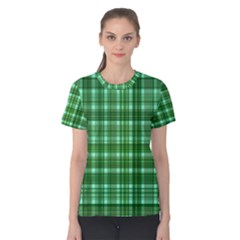 Plaid Forest Women s Cotton Tees