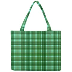 Plaid Forest Tiny Tote Bags