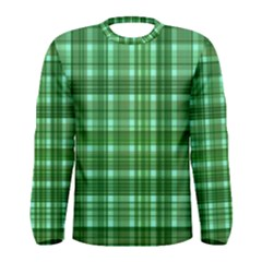 Plaid Forest Men s Long Sleeve T Shirts