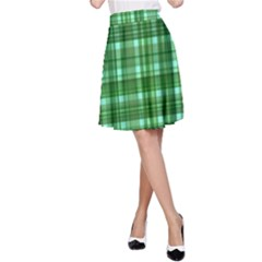 Plaid Forest A Line Skirts