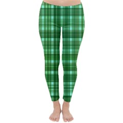 Plaid Forest Winter Leggings