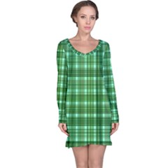 Plaid Forest Long Sleeve Nightdresses