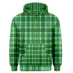 Plaid Forest Men s Zipper Hoodies