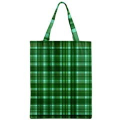 Plaid Forest Zipper Classic Tote Bags