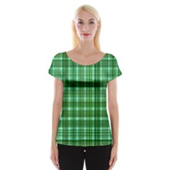 Plaid Forest Women s Cap Sleeve Top