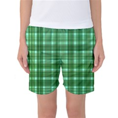 Plaid Forest Women s Basketball Shorts