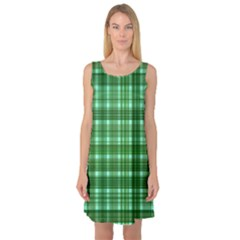 Plaid Forest Sleeveless Satin Nightdresses