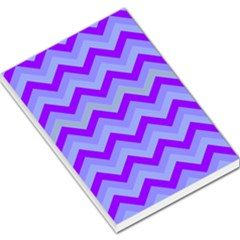 Chevron Blue Large Memo Pads
