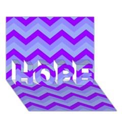 Chevron Blue Hope 3d Greeting Card (7x5)