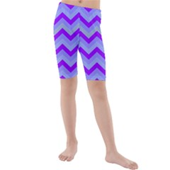 Chevron Blue Kid s swimwear