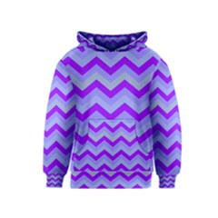 Chevron Blue Kid s Pullover Hoodies