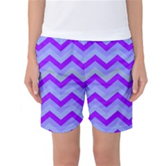 Chevron Blue Women s Basketball Shorts