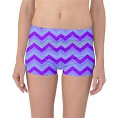 Chevron Blue Reversible Boyleg Bikini Bottoms