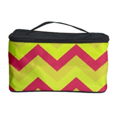 Chevron Yellow Pink Cosmetic Storage Cases
