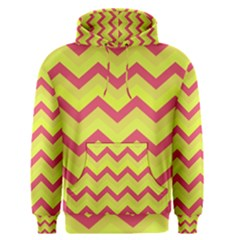 Chevron Yellow Pink Men s Pullover Hoodies