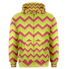 Chevron Yellow Pink Men s Zipper Hoodies