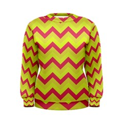 Chevron Yellow Pink Women s Sweatshirts