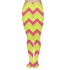 Chevron Yellow Pink Women s Tights