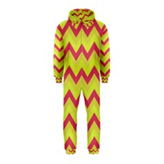 Chevron Yellow Pink Hooded Jumpsuit (Kids)