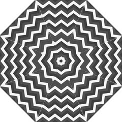 Chevron Dark Gray Folding Umbrellas