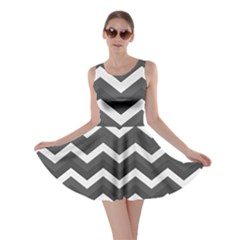 Chevron Dark Gray Skater Dresses