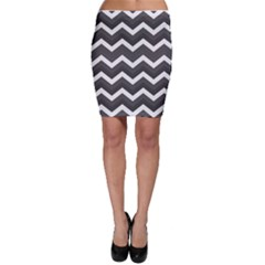 Chevron Dark Gray Bodycon Skirts