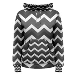 Chevron Dark Gray Women s Pullover Hoodies