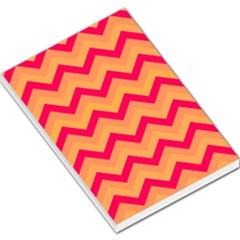 Chevron Peach Large Memo Pads